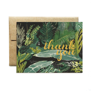 Green Palms Thank You Set