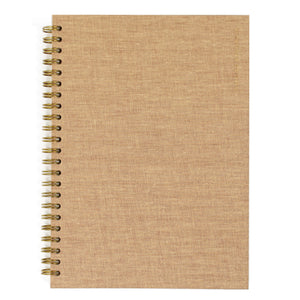 Tan Bookcloth Monthly Planner
