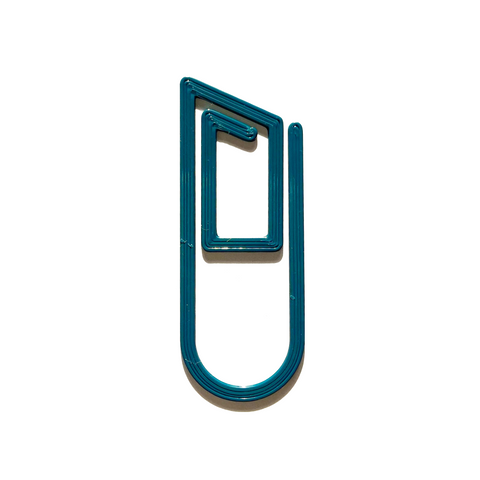Teal Paperclip Bookmark