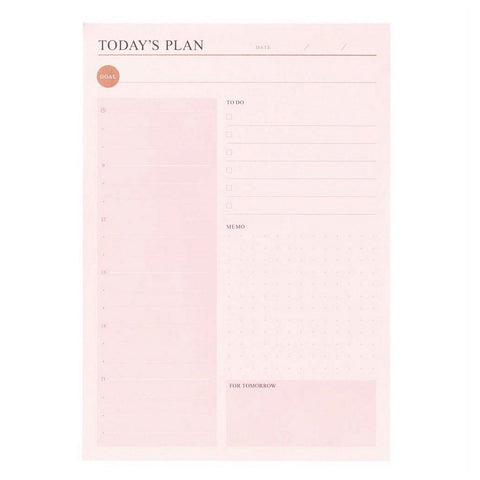 Today's Plan in Pink