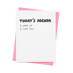Today's Agenda Card