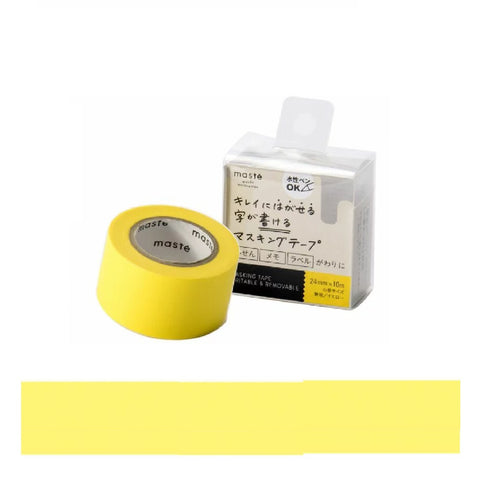 Yellow Wide Write-On Paper Tape