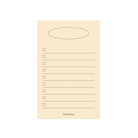 Yellow Blank List Pad