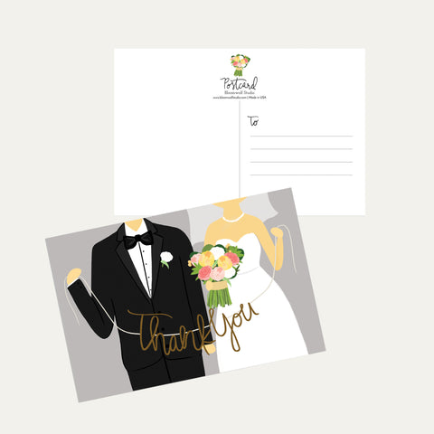 Wedding Thank You Postcard Set