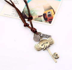 Lucky Elephant Key Necklace