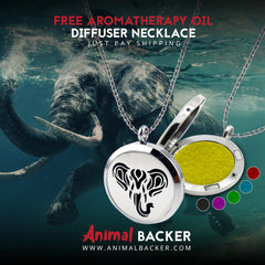FREE ELEPHANT ESSENTIAL OIL DIFFUSER NECKLACE