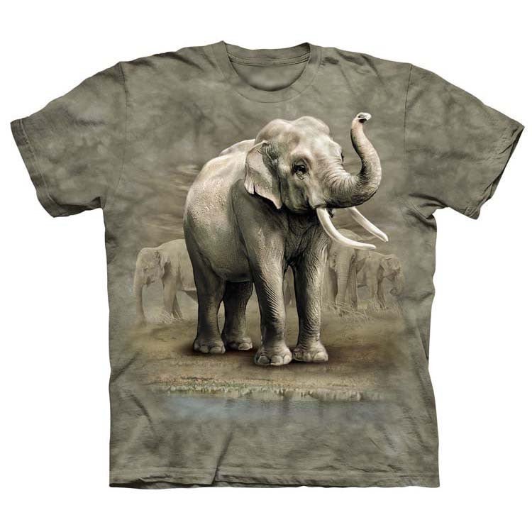 Asian Elephant Salute Adult T-Shirt