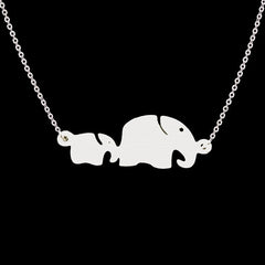 Mom & Baby Elephant Necklace