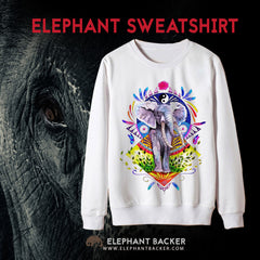 ELEPHANT COLORFUL SWEATSHIRT