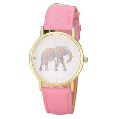 Elephant Print Pattern Watch