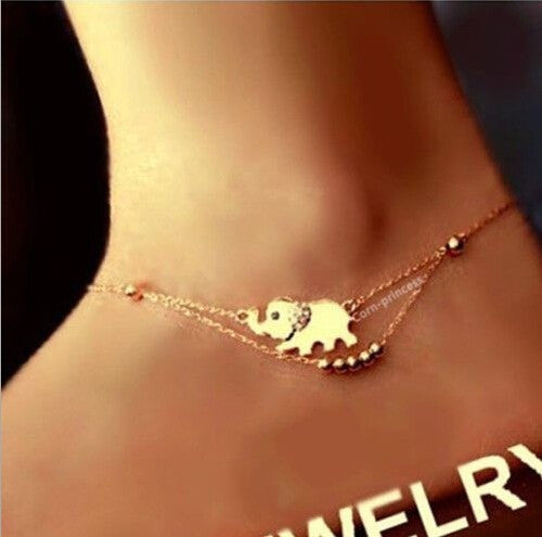 Charming Gold Elephant Anklet