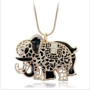 Crystal Jewelry Elephant Necklace