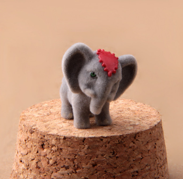 Mini African Elephant Garden Decoration