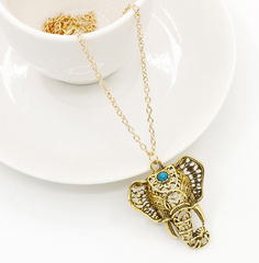 Boho Chic Tribal Elephant Necklace