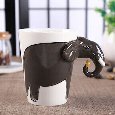 Ceramic Elephant Shaped Mugs
