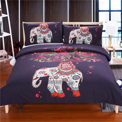 3D BOHO ELEPHANT BEDDING SETS