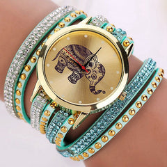 2-for-1 Elephant Watch and Bracelet Set