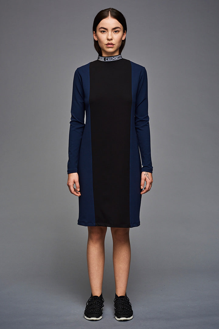 Logo Collar Dress