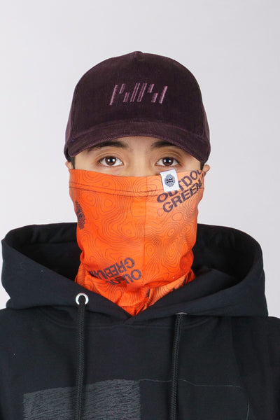 Orange Topography Buff (unisex)