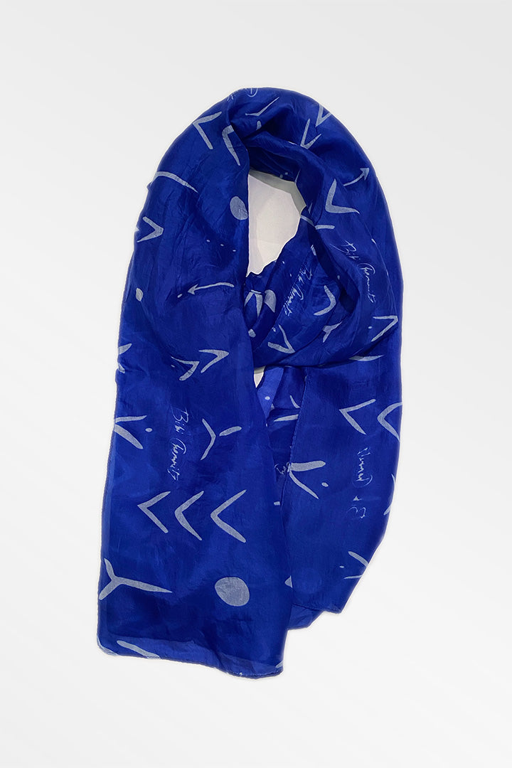 Blue Tattoo Silk Scarf