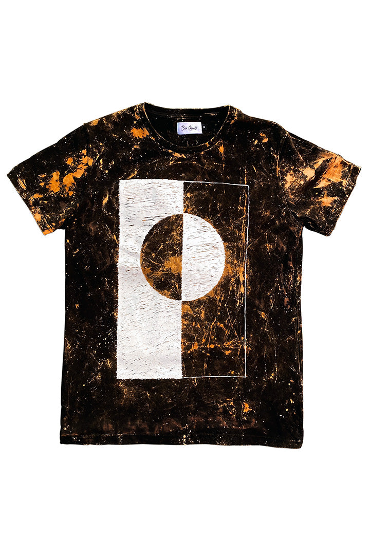 Bleached Flag T-shirt Black (UNISEX)