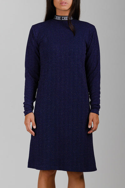 Glitter BIBI Rib Turtleneck Dress