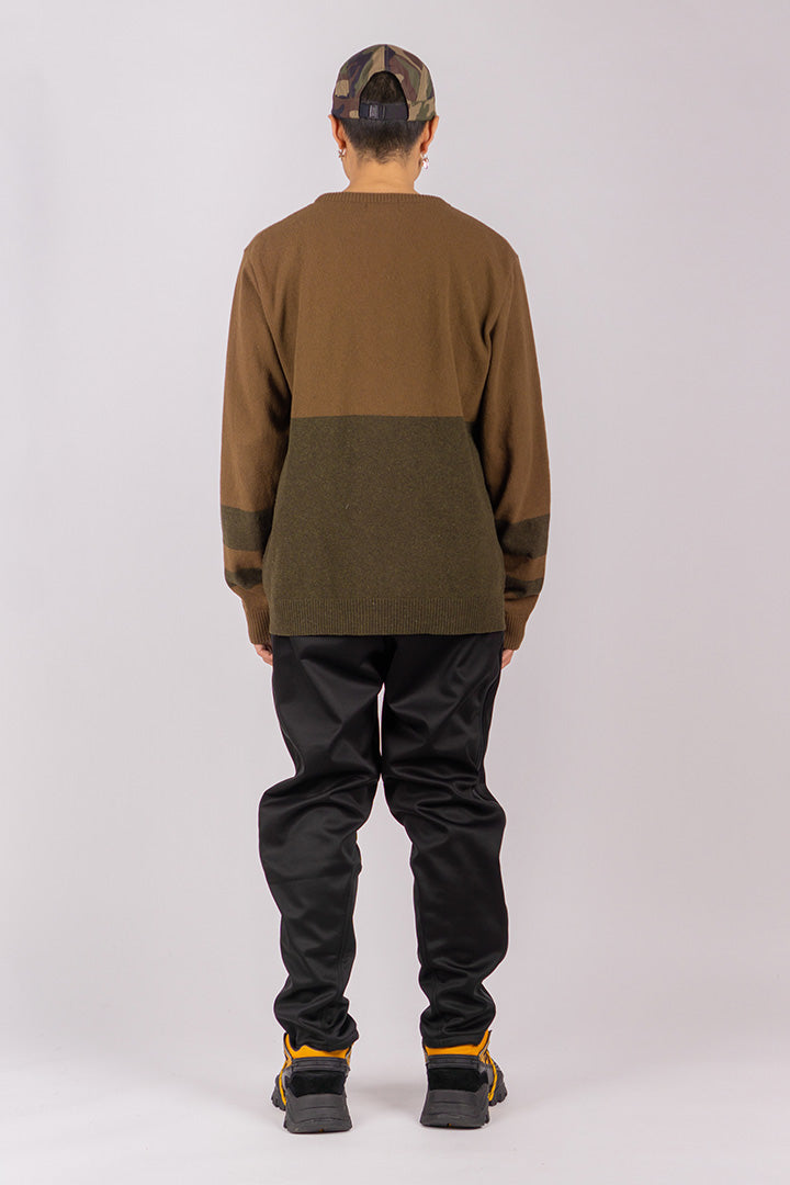 Lambs Wool Jumper Green/Brown (unisex)