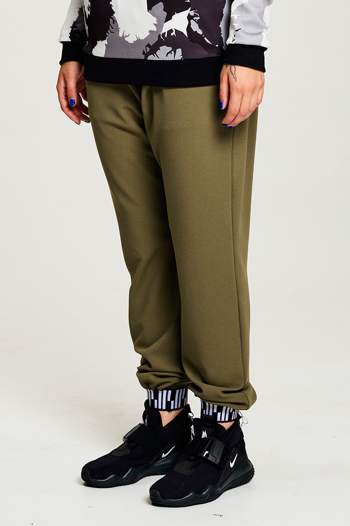 Olive Green Loose Pants