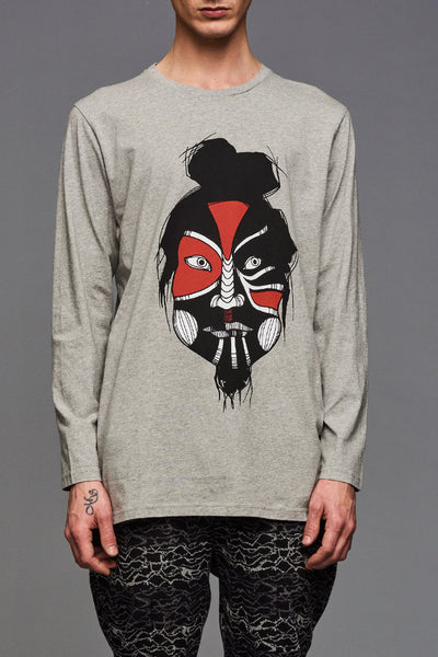 Grey Mask Dance Long Sleeve (UNISEX)