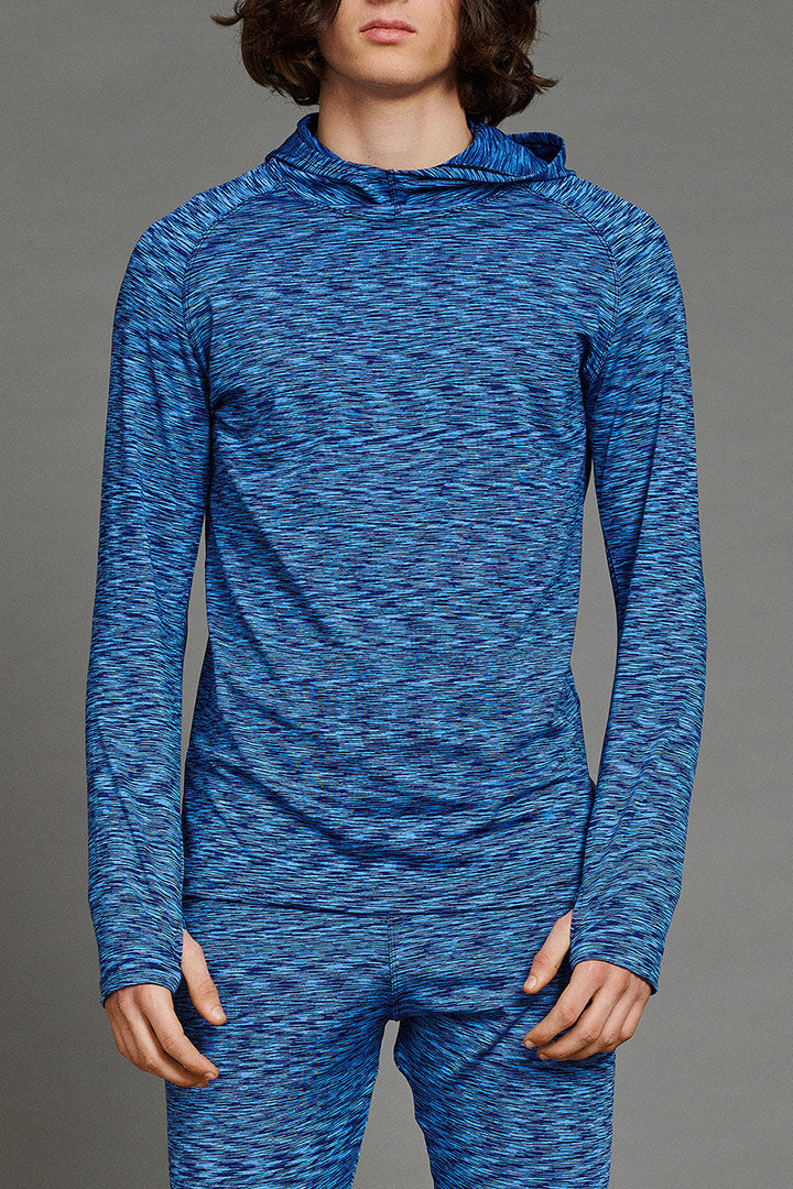 Blue Stretchy Merino Baselayer Longsleeve (unisex)