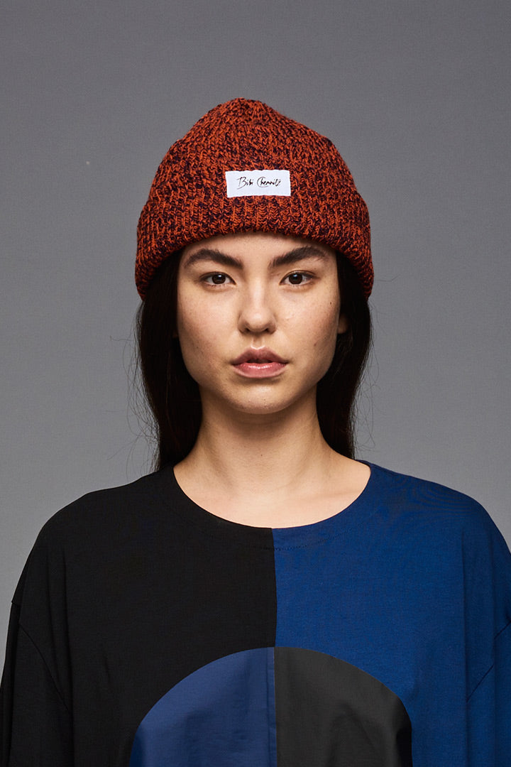 Orange/Blue Melange Beanie (unisex)