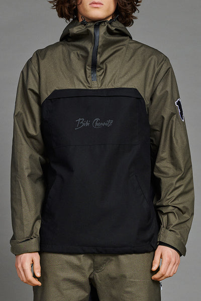 Outdoor Greenland Anorak (Army-Green + Black)(unisex)
