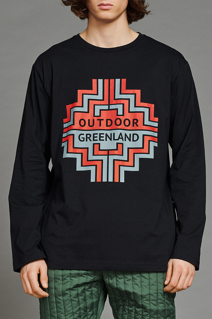 Black Outdoor Greenland Longsleeve (unisex) by BIBI CHEMNITZ