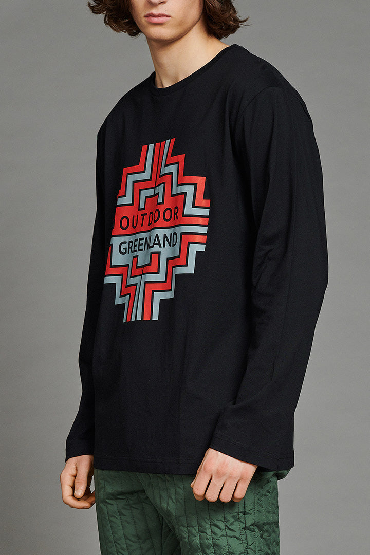 Black Outdoor Greenland Longsleeve (unisex)