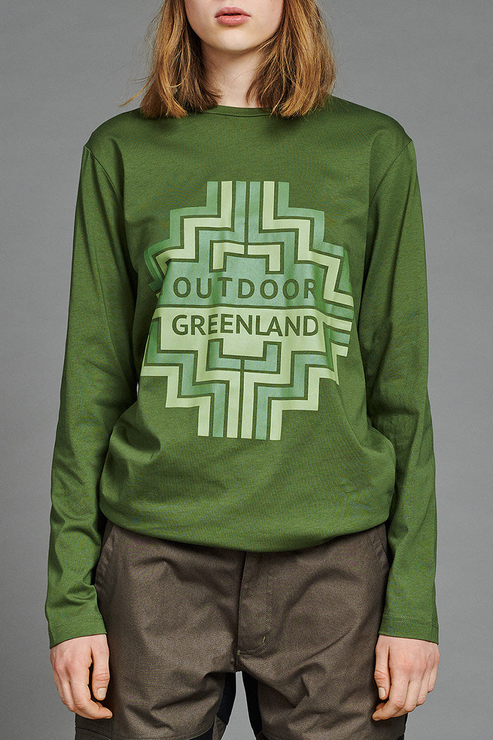 Green Outdoor Greenland Longsleeve (unisex) by BIBI CHEMNITZ