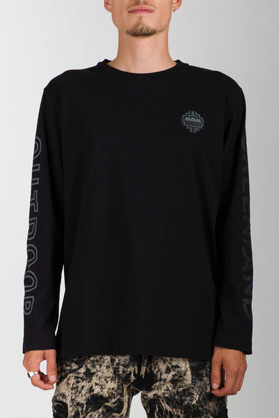 Black/Dark Grey Outdoor Greenland Longsleeve (unisex)