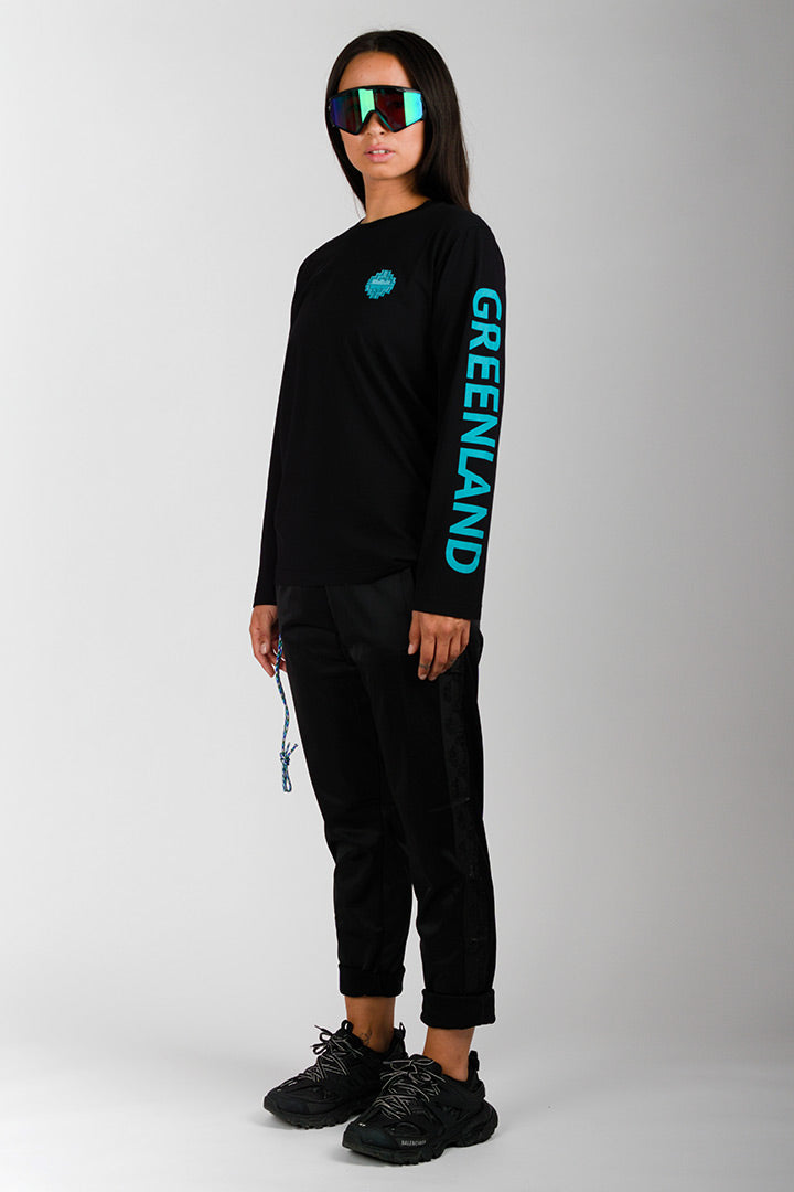 Black/Turquoise Outdoor Greenland Longsleeve (unisex)