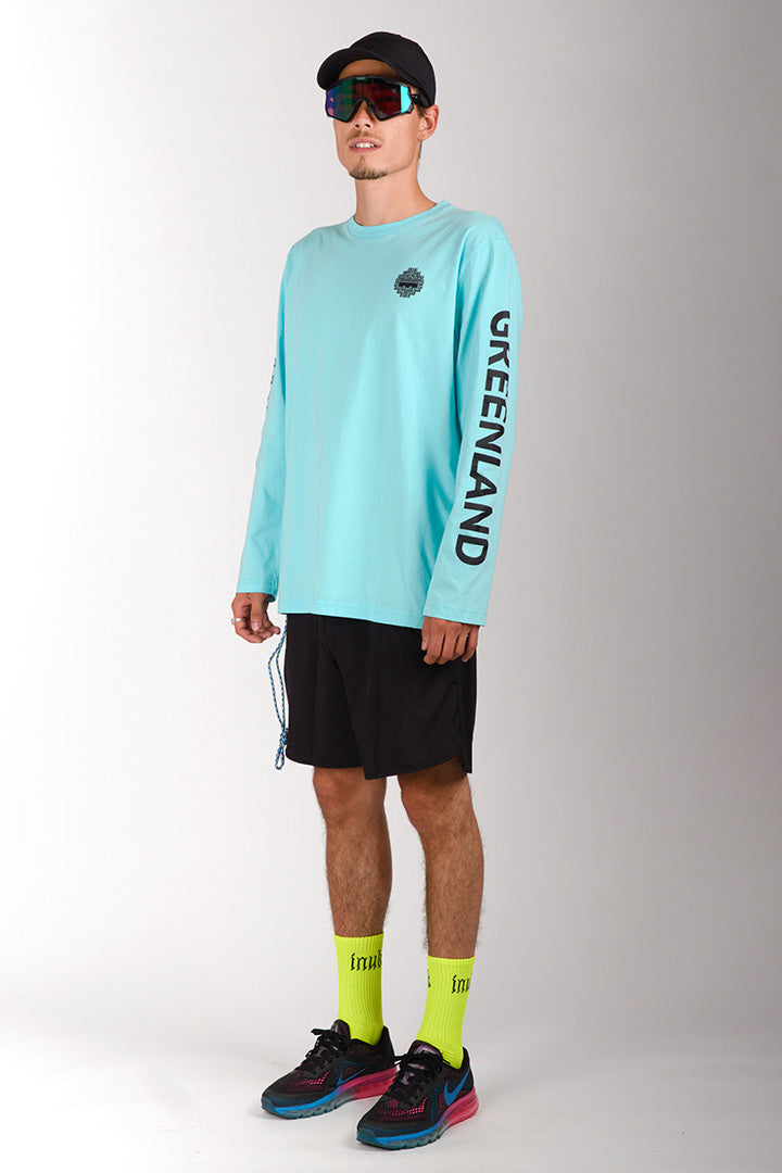 Turquoise/Black Outdoor Greenland Longsleeve (unisex)