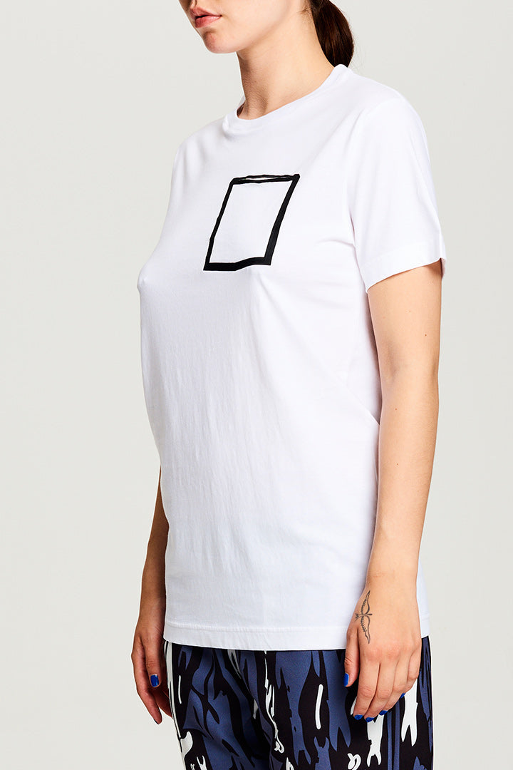 Pocket T-shirt White (UNISEX)