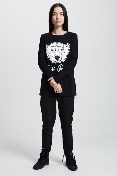 Polar Bear Long Sleeve (black)