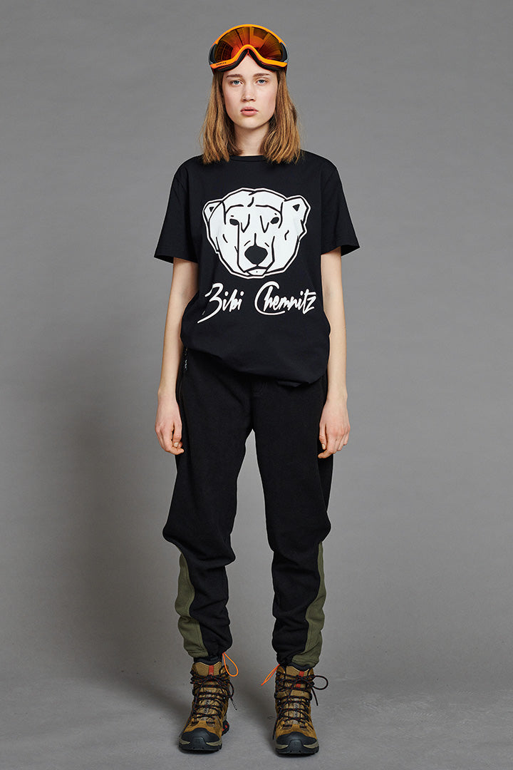 BIBI CHEMNITZ black polar bear t-shirt