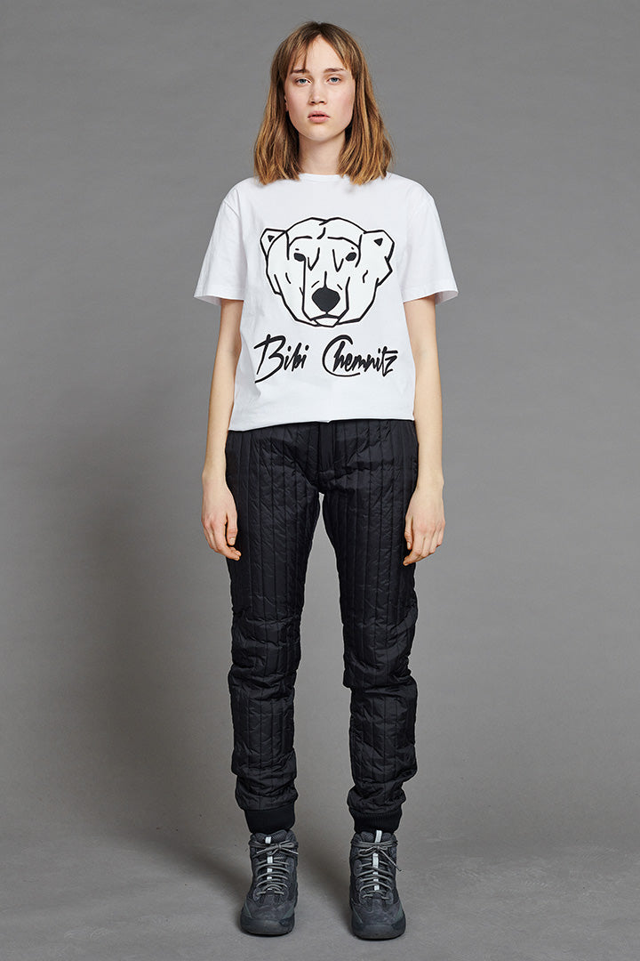 BIBI CHEMNITZ white polar bear t-shirt