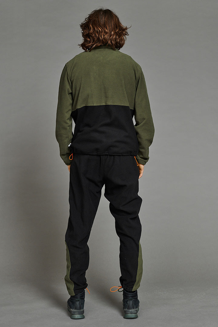 Polar Fleece Pants (Black/Green) (unisex)