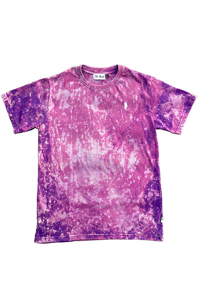 Bleached Purple Greenland Embroidery T-shirt (unisex)