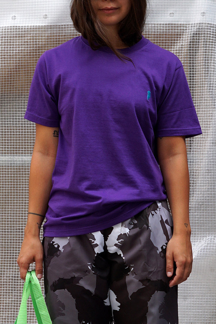 Purple Greenland Embroidery T-shirt (unisex)