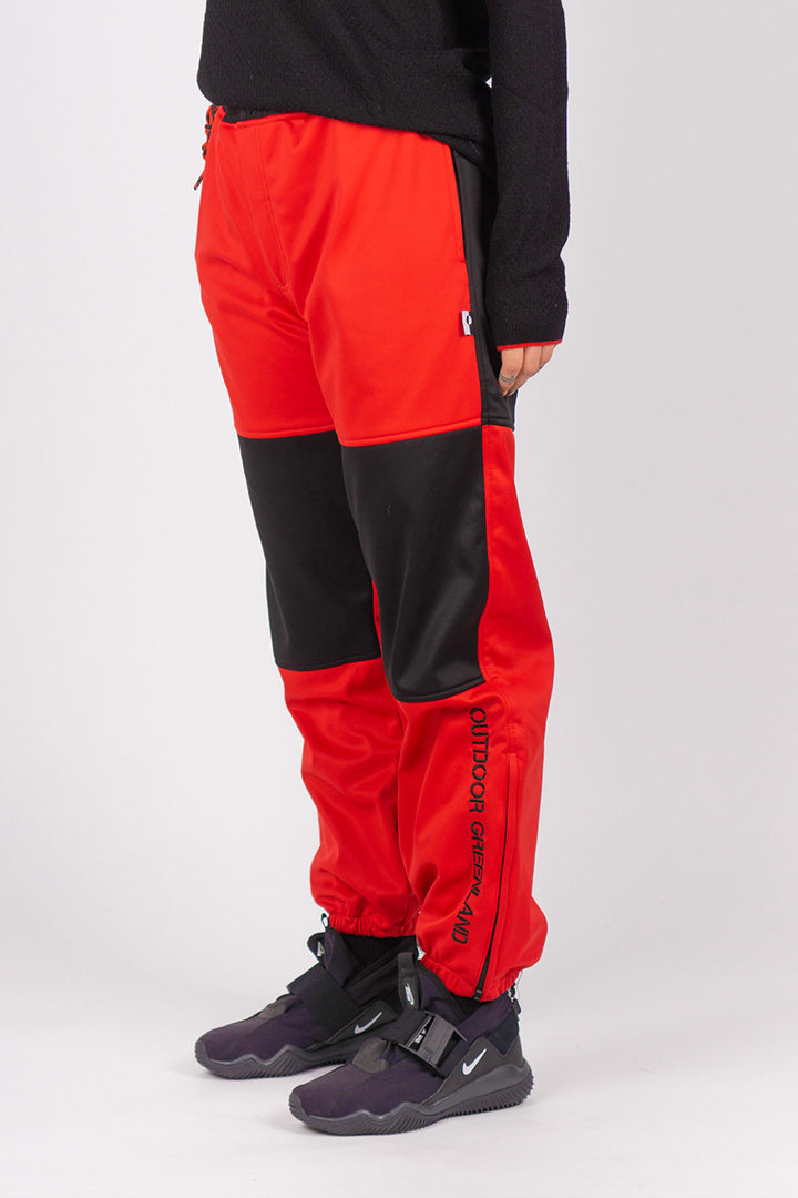 Red Soft-shell Trekking Pants (unisex)