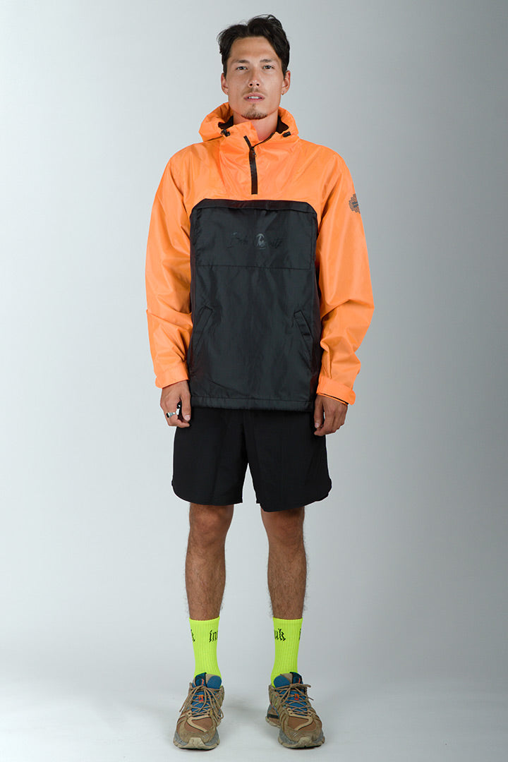 Orange/Black Ripstop Nylon Anorak (unisex)