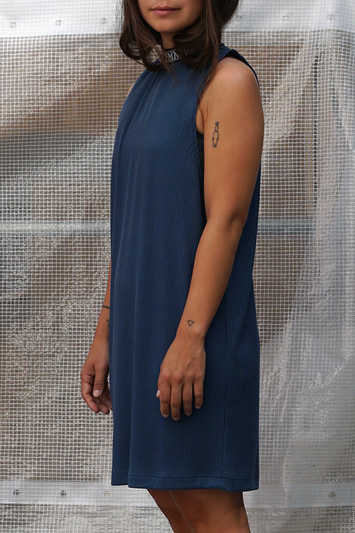 Petrol Blue Rib Dress