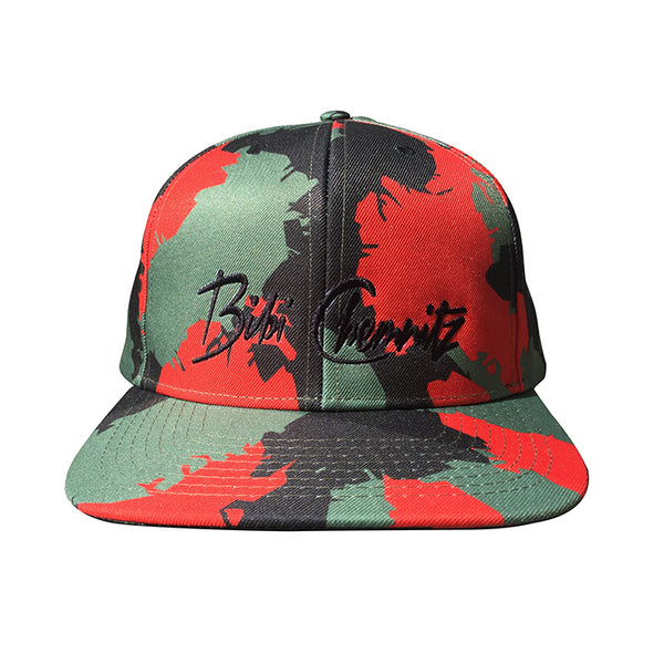 Red Camo Snapback - Multi Colored