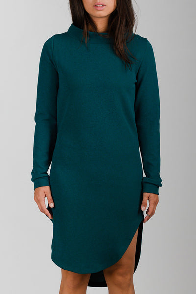 Ocean Green Inuit Collar Dress
